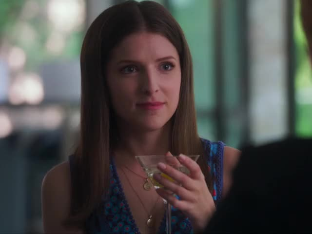 A Simple Favor - Awkward smile uncomfortable smile awkward Anna Kendrick A Simple Favor GIF