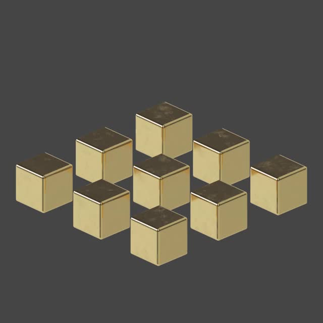 Watch Gold Cubes GIF by Samuel Rodrigues (@androidwg) on Gfycat. Discover more c4d, cg, cinema 4d, cinema4d, oddly satisfying, oddlysatisfying, redshift, render, satisfying, simulated, simulation GIFs on Gfycat