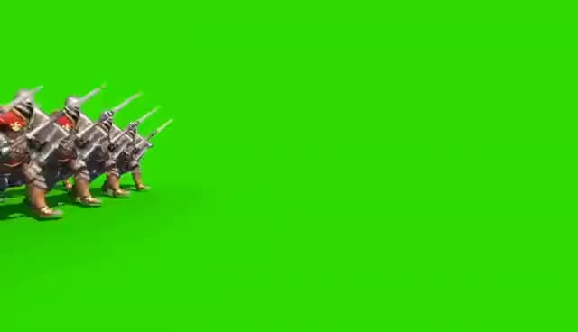 Watch and share Green Screen Legion Of Soldiers March Victory - Footage PixelBoom GIFs on Gfycat