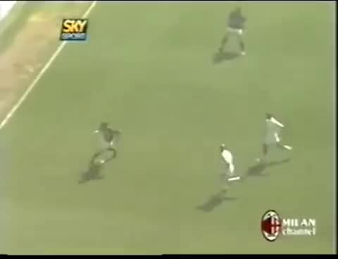 Watch and share Milan - Roma 1-0  ● Gol Shevchenko ● Pellegatti ● Milan Campione D'Italia 2003-04 GIFs on Gfycat