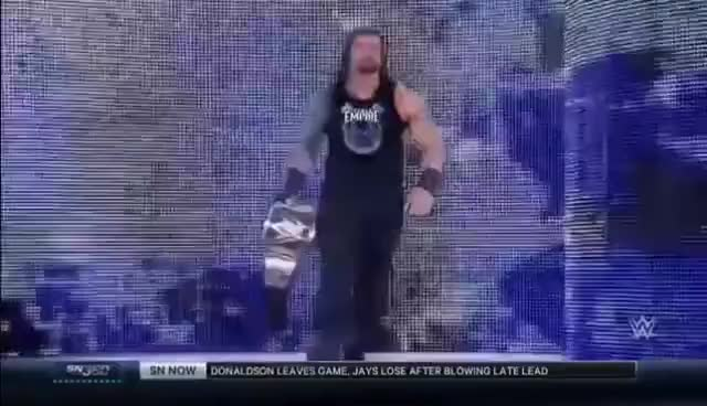 Watch Roman Reigns Entrance 2016 WWE World Heavyweight Champion GIF on Gfycat. Discover more related GIFs on Gfycat