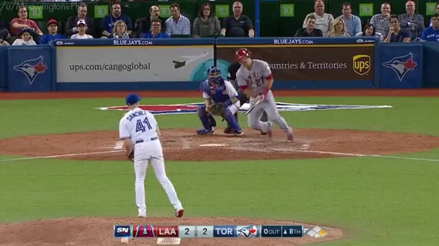 Watch and share [GIF] Josh Donaldson Makes A Great Play At 3rd To Get Mike Trout (reddit) GIFs by meowy on Gfycat