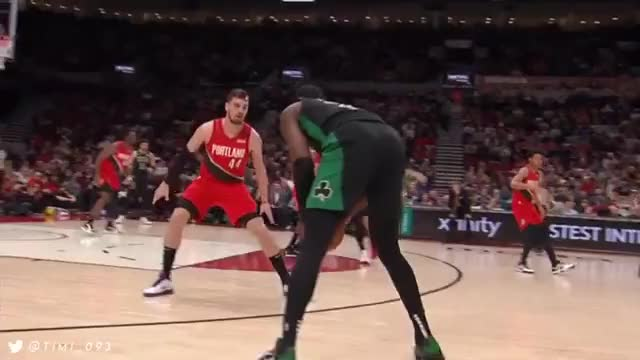Watch and share Jaylen Brown Dribble Size Pull Up Mid Range Jumper On Trevor Ariza GIFs by jeebs9 on Gfycat