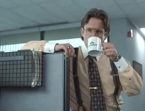 Watch and share Office Space GIFs and Coffee GIFs on Gfycat