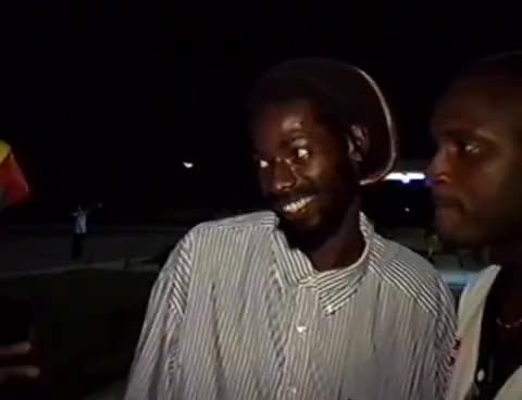 Watch and share Buju Banton Arrived At Suriname Airport ,in 1994,way Back Video,welcomed By Reggaeholland GIFs on Gfycat