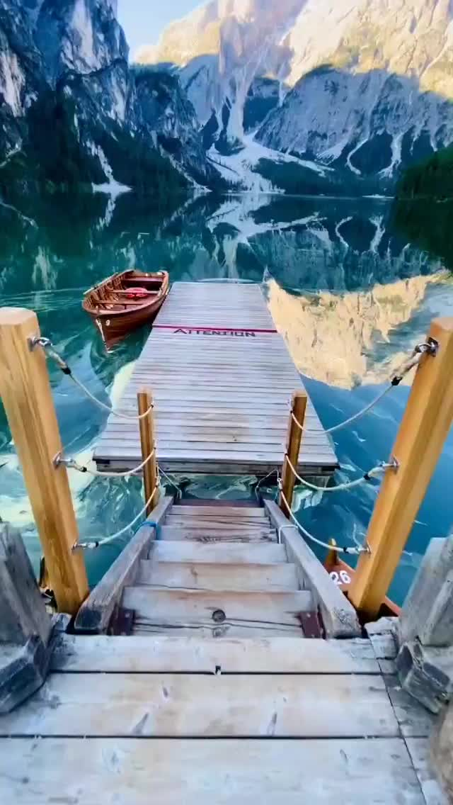 Watch and share Lake Braies, Italy GIFs by Unicornglitteryblood  on Gfycat