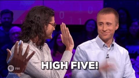 high five, good job GIFs