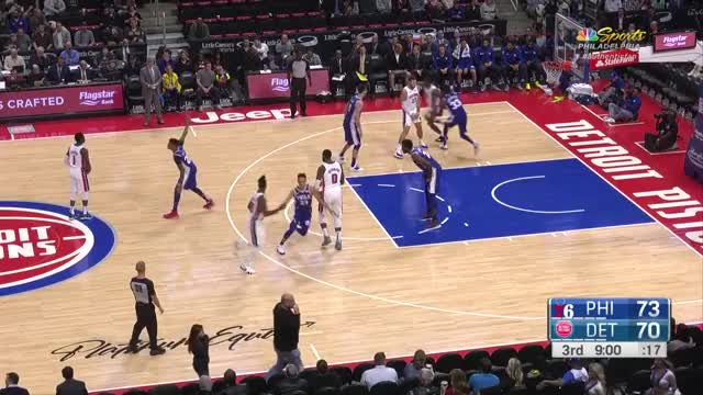 Watch and share Philadelphia 76ers GIFs and Detroit Pistons GIFs by Mike Snyder on Gfycat