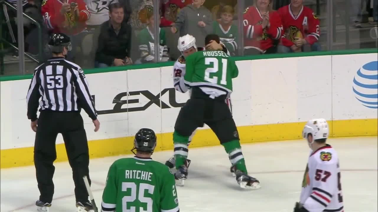 Tootoo and Roussel go at it GIFs