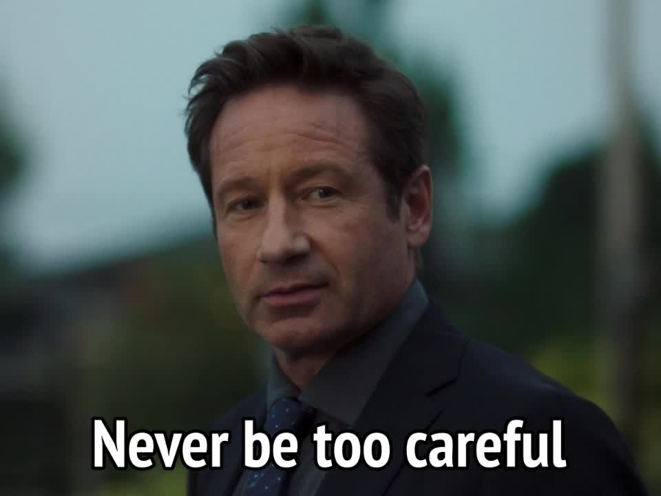 David Duchovny, Fox Mulder, The X-Files, celebs, X-Files - Never be too careful GIFs