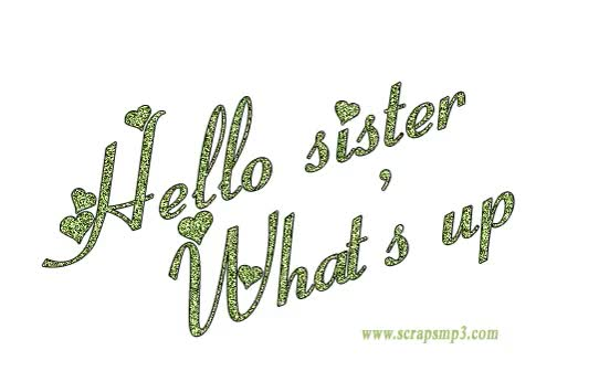 Watch and share Hello Sister animated stickers on Gfycat