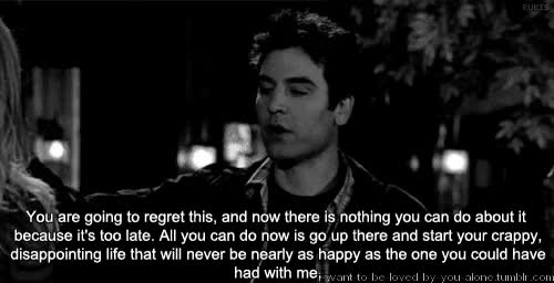 Watch and share Black And White GIFs and Ted Mosby GIFs on Gfycat