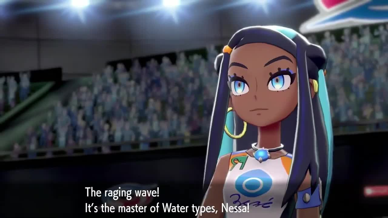 Pokemon Sword And Shield Nessa Gif By Christopher Burwell