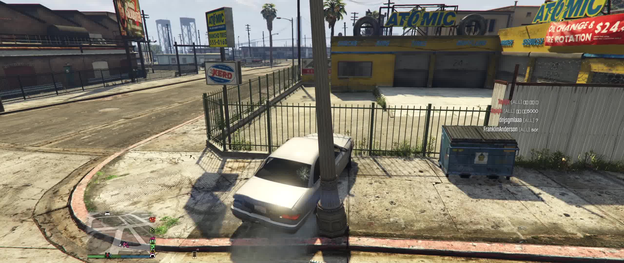 ai, car-jack, gtav, los santos, online, pc, pve, wasted, [GTAV] An attempted car-jacking GIFs