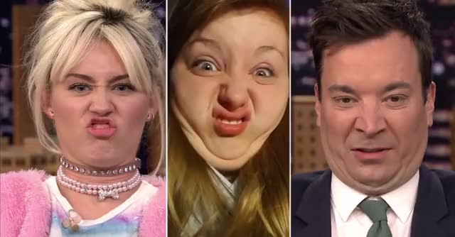 Watch and share Funny Face Off With Miley Cyrus GIFs by Reactions on Gfycat