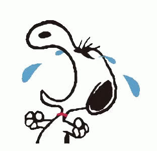 angry, cry, crying, cute, dog, furious, mad, pet, pissed, sad, snoopy, Crying Snoopy GIFs