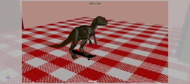 Watch and share Dinosaur Skateboard Nov 19 GIFs on Gfycat