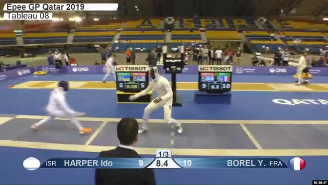 Watch 00029472 HARPER GIF by Scott Dubinsky (@fencingdatabase) on Gfycat. Discover more gender:, leftname: HARPER Ido, leftscore: 10, rightname: BOREL Y, rightscore: 11, time: 00029472, touch: double, tournament: doha2019, weapon: epee GIFs on Gfycat
