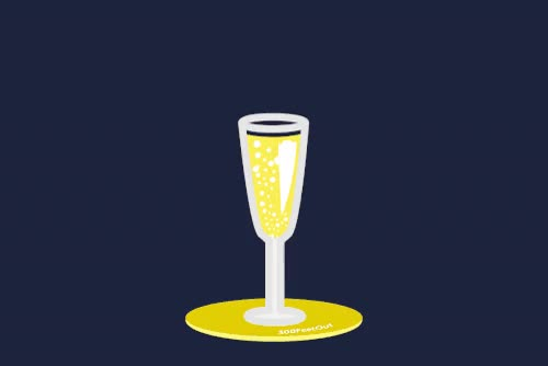 FeetOut Holiday champagne animate