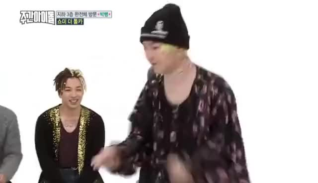 Watch and share [WEEKLY IDOL] G-DRAGON DANCING TO CHEER UP & PICK ME GIFs on Gfycat