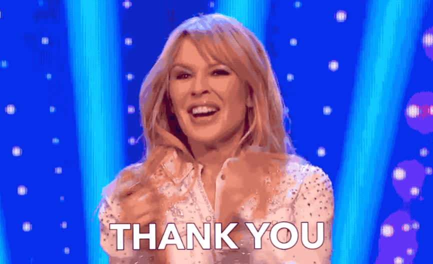ant, applause, clap, clappin, cute, dec, gracias, grateful, happy, kylie, minogue, night, saturday, smile, smily, takeaway, thank, thanks, you, Kylie Minogue - THANKS GIFs