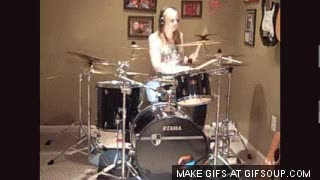 Watch Girl Drummer GIF on Gfycat. Discover more related GIFs on Gfycat