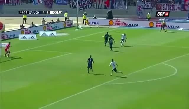 Watch Gol de Esteban Paredes Universidad de Chile 1 vs Colo Colo 2 15/04/2018 GIF on Gfycat. Discover more related GIFs on Gfycat