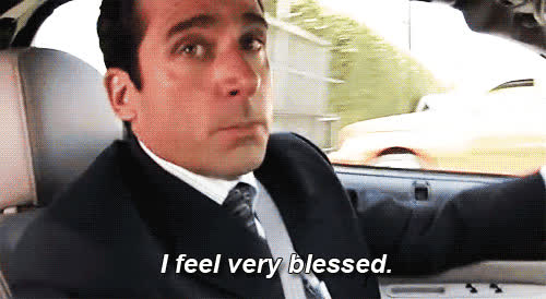 blessed, lucky, michael scott, steve carell, the office, I'm sure you are. GIFs