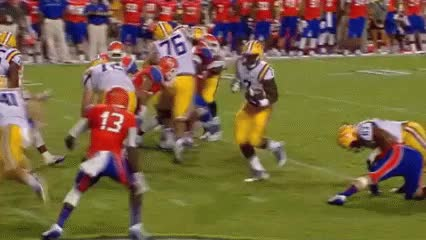 Watch and share Leonard Fournette Can't Cut Slow Motion GIFs by lifesyourcup on Gfycat