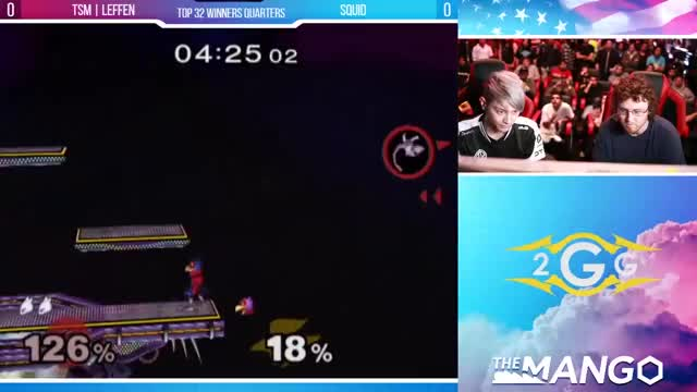The Mango - TSM | Leffen (Mewtwo) VS Squid (Falco) - SSBM Top 64 Winners Quarters