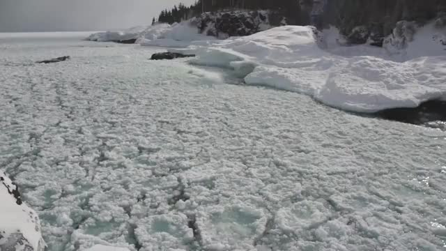 Watch and share Pancake Ice! Lake Superior, Winter 2016 GIFs on Gfycat