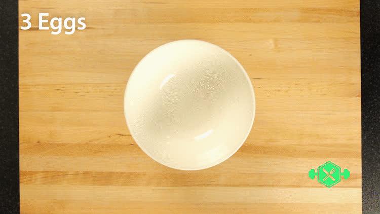 GifRecipes, fitness, recipes, Easy Veggie/Parmesan Omelette (Vegetarian, High-Protein) GIFs
