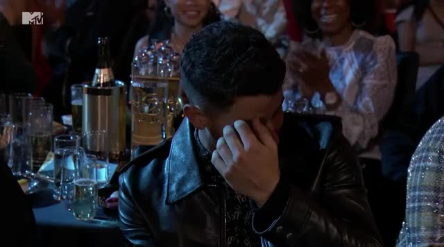 Watch this curated GIF by GIF Reactions (@visualecho) on Gfycat. Discover more MTV Movie Awards 2018, MTVMovieAwards2018, celebrity, celebs, nick jonas GIFs on Gfycat