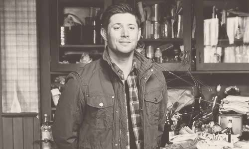 """Watch """"And you must be Dean."""" Your dad deadpanned from across the  GIF on Gfycat. Discover more *smacks his shoulder*, I'm so sorry, be nice, but let's roll with it, come on, dad!, dean, dean imagine, dean winchester, dean winchester imagine, deanwinchesterismyhomeboy, gif, gif imagine, i told you we shouldn't have come, imagine, just sounded like a twelve year old girl, okay, reader insert, spn, spn imagine, spn imagines, supernatural, supernatural imagine, supernatural imagines, you don't even know him GIFs on Gfycat"""