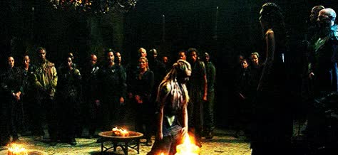 Watch Clarke bows to Lexa in The 100 3x03 GIF on Gfycat. Discover more related GIFs on Gfycat