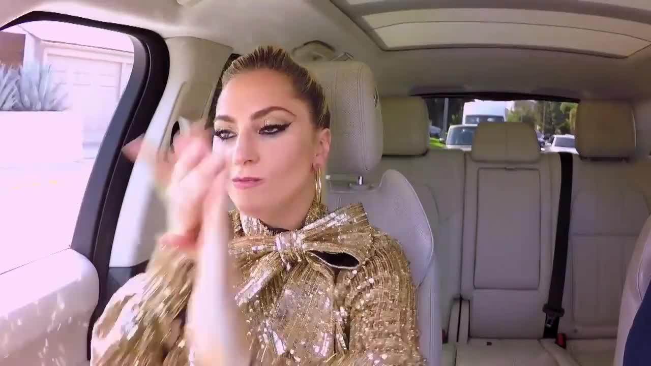 lady gaga, stefani germanotta, Lady Gaga Carpool Karaoke GIFs