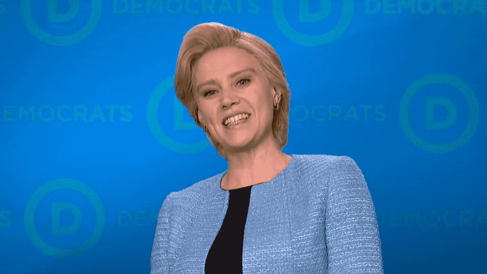clinton, democrats, for, go, hillary, it, kate, live, mckinnon, night, saturday, snl, victory, win, yeah, yes, SNL - Yeah GIFs