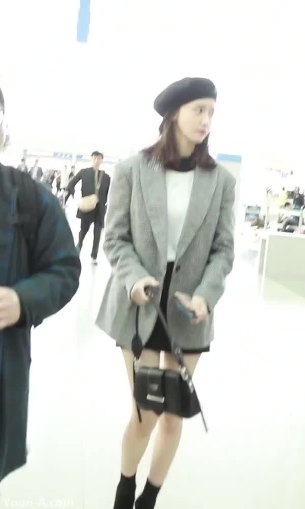 Watch and share Yoona-airport-3-www.yoon-a.com GIFs by KGIRLS on Gfycat