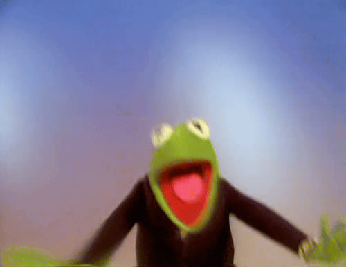 awesome, celebrate, excited, happy, international day of happiness, kermit, yas, yay, Kermit Happy GIFs