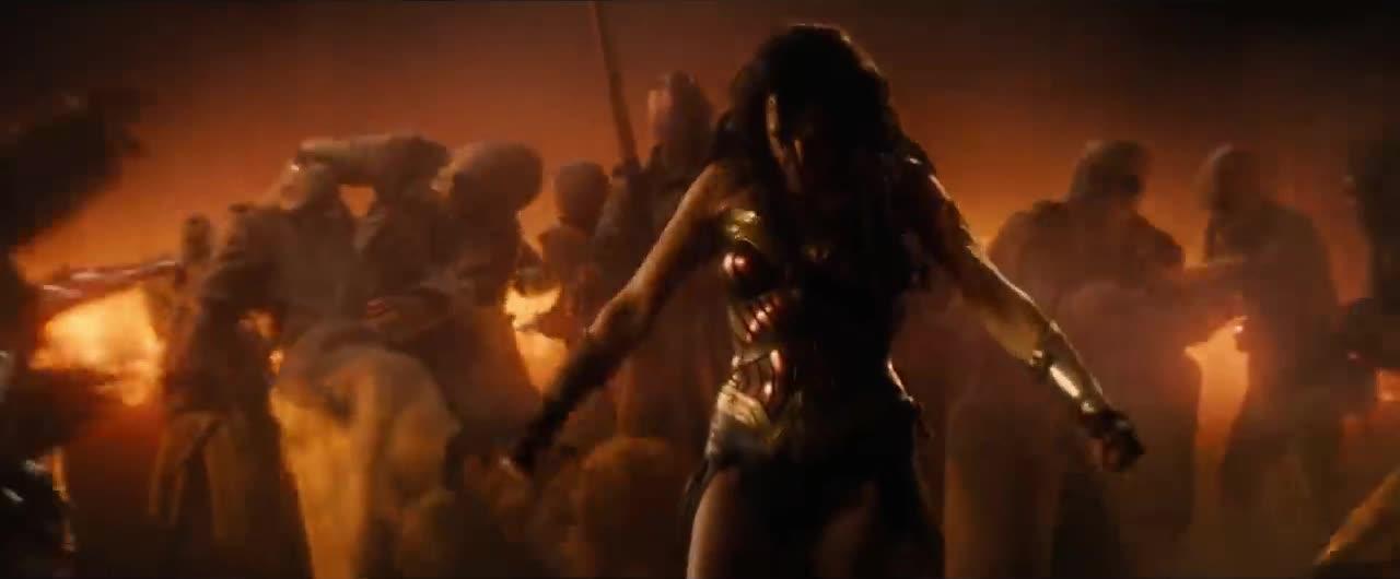 ares, david thewlis, fight, gal gadot, movies, wonder woman, Diana vs Ares Wonder Woman Battle GIFs