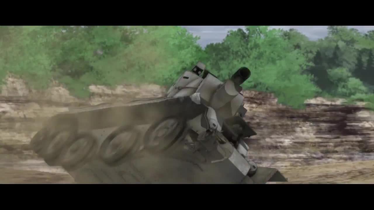 der film, gup, movie, Girls und Panzer der Film - BT-42 scene on crack (1/3) GIFs