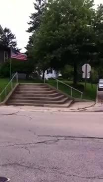 longboarding, 10 stair GIFs