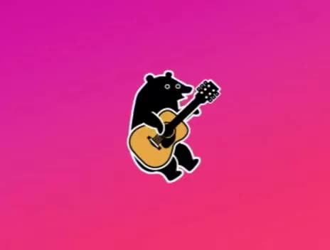 Watch and share Guitar GIFs and Bear GIFs on Gfycat