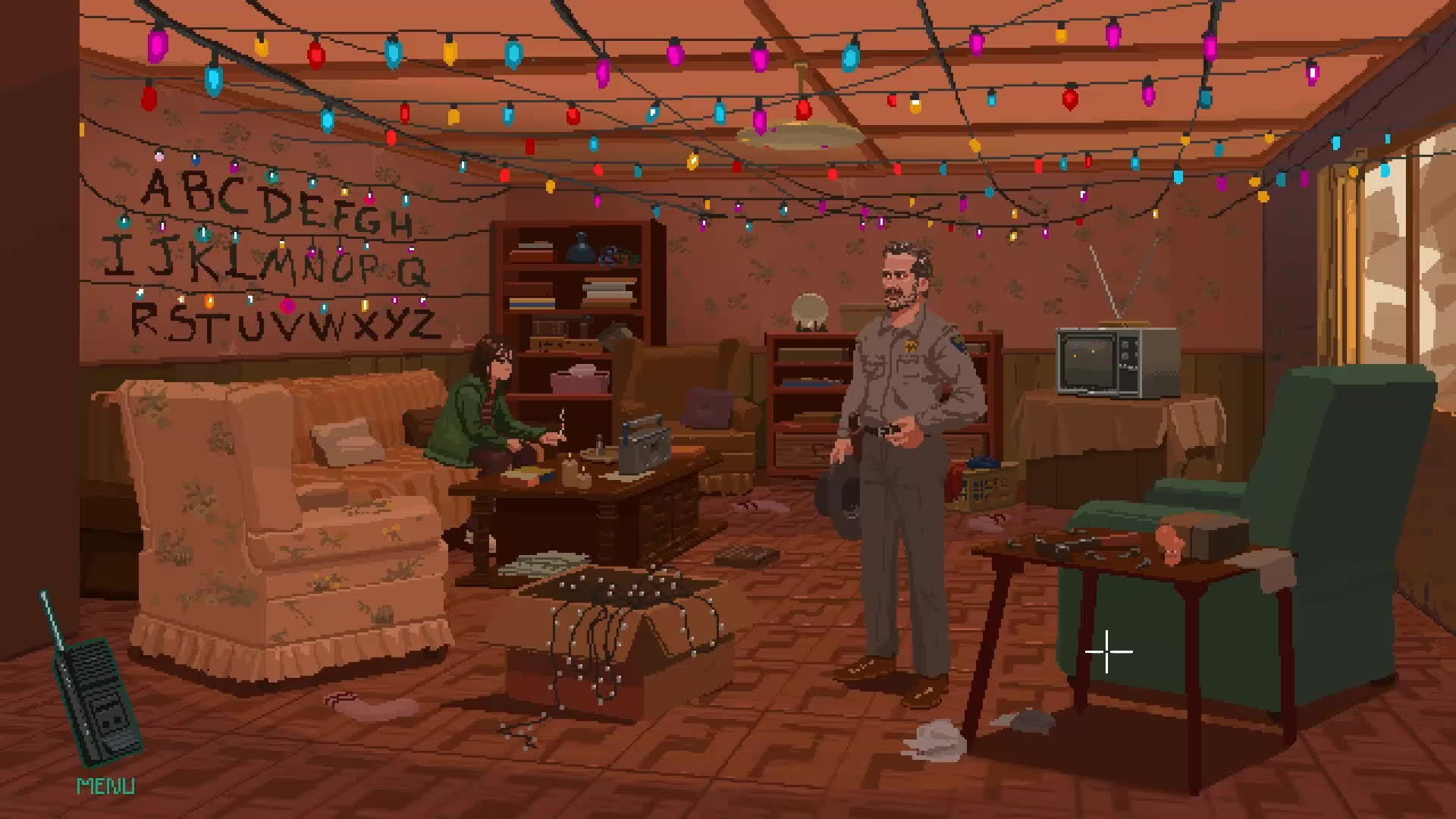 StrangerThings, gaming, gifs, I felt that Stranger Things would adapt so well as an old school adventure game, so I made a mock up! (reddit) GIFs