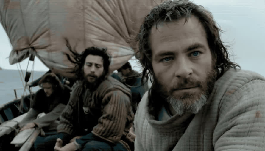 annoyed, annpying, boat, bored, boring, chris, escape, hmm, idea, king, netflix, outlaw, pratt, sail, seriously, think, thinking, thought, wait, waiting, Outlaw king GIFs