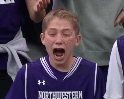 anguish, basketball, crying, horrified, kid, losing it, ncaa, northwestern, oh my god, Kid Crying Over Basketball Game GIFs