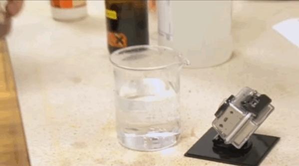 chemicalreactiongifs, Potassium permanganate in hydrogen peroxide GIFs