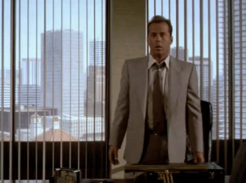 bruce willis, get out, moonlighting, Moonlighting - Get out GIFs