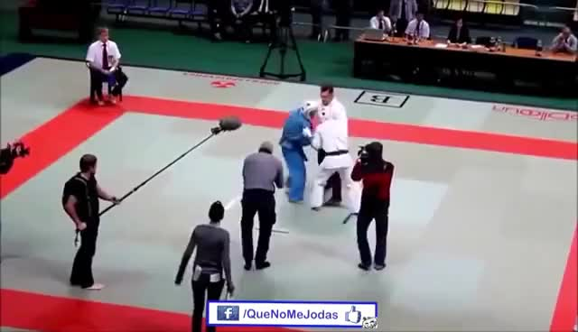 Watch and share Arbitro De Karate Enojado GIFs on Gfycat