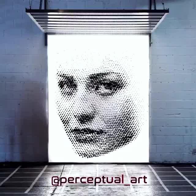 3d, art, brooklyn, female, new york, sculpture, woman, 3d Halftone Sculpture GIFs